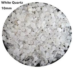Crystal Chips NZ - C01 10mm White Crystal Natural Stone Chips Gravels Quartz Aquarium Garden