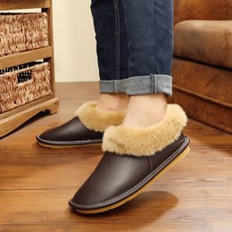 $enCountryForm.capitalKeyWord NZ - Shoes Men For Indoor Use Fashion Home Slippers Comfortable Hose Shoes Slipper Winter Shoes With Fur NA243