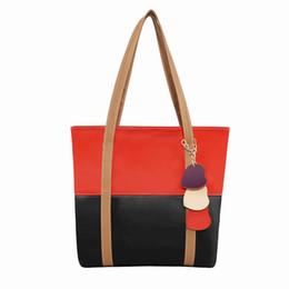 Heart Shaped Handbags Wholesale Canada - Fashion Beautiful Women Fight Color Package Heart-shaped Decorative Bag General Zipper Leather Handbag Girlfriend Gift 903