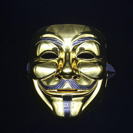 V Vendetta Cosplay UK - Plating Party Masks V for Vendetta Party Cosplay Mask Anonymous Guy Fawkes Fancy Dress Adult Costume