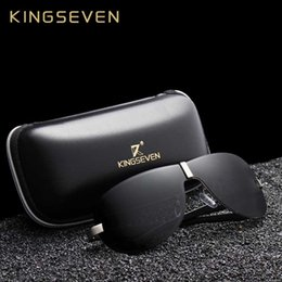 brand x sunglasses NZ - X KINGSEVEN Aluminum Polarized Driving Sunglasses for Men glasses Brand Designer with High Quality Big frame rimless sun glasses