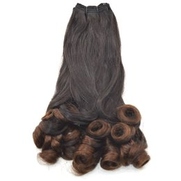 $enCountryForm.capitalKeyWord UK - Brazilian Funmi Human Hair 3 Bundles Natural Black Double Drawn Virgin Hair Weaves 8-30 inch FDshine