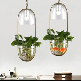 Fiori da giardino Piante in vaso Lampade a sospensione Ferro battuto Vetro Luce a sospensione Bar Ristorante Balcone Bar Illuminazione da interni in vetro G176