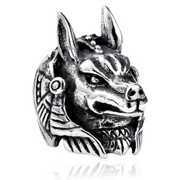 punk rings Australia - Egypt Myth Anubis Ring Men Top Quality Punk Jewelry Fashion Vintage Men's Game Role Nesus Rings