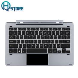 Discount chuwi tablets - Original Chuwi Hi12 Docking Keyboard 12.2 inch for Hi12 Tablet PC Silver Rotary Shaft multi language stickers