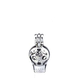 $enCountryForm.capitalKeyWord NZ - 10pcs lot Silver Alloy Travel Skull Hot Balloon Oysters Beads Cage Locket Pendant Aromatherapy Perfume Essential Oils Diffuser