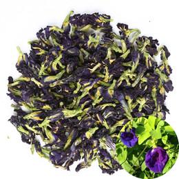Toptan satış Organik Kurutulmuş Saf Kelebek Bezelye Çiçekler, Doğal Clitoria ternatea Herbals Mavi Çay Toptan, Üst Sınıf