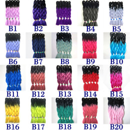 two tone hair xpression braid 2019 - Xpression Braiding Hair Kanekalon Synthetic Crochet Braids Twist 24inch 100g Ombre Two Tone Black Roots Jumbo Braiding H