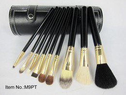 Discount direct cases - Factory Direct Dhl Free Shipping New Makeup Brushes 9 Pieces Brush With Black Cup Holder Case!