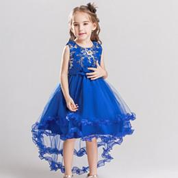 30632db01933 3-13 anni ricamo fiore ragazza principessa abito per la cerimonia nuziale  per bambini in pizzo tulle pizzo tutu abito festa in costume da bagno per  bambini