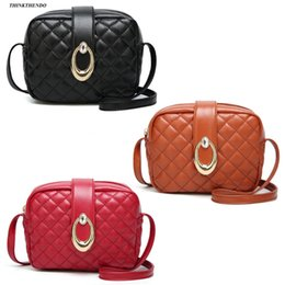 THINKTHENDO 2018 New Fashion Solid Women Faux Leather Small Handbag  Messenger Crossbody Fashion Shoulder Bag Purse 194514df7dc70