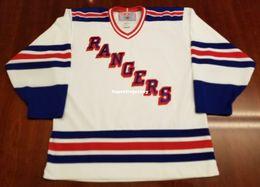 d611c8ecd Wholesale Custom New York Rangers Vintage CCM Cheap Hockey Jersey White  Mens Retro Jerseys