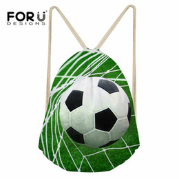 4da3575887d3 FORUDESIGNS Gym Bag Drawstring Backpack 3D Football Printed Sport Bag for Men  Fitness Training Athletic for Sport Outdoor