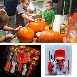 Wholesale Halloween Pumpkin Carving Kit DIY Adult Kids Children Pumpkin Lantern Carving Toy Knife Set Tools XMas Gifts