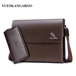 YUES KANGAROO 2017 Brand Men Messenger Bag Casual PU Leather Business Briefcase  Bag Small Crossbody Shoulder Bag Male Bolsas ea7058428706b