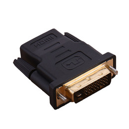 wholesale hdmi dvi 2019 - New DVI 24+1 Male to HDMI Female Converter HDMI to DVI adapter Support 1080P for HDTV LCD DVI-D Gold Plated Adapter chea