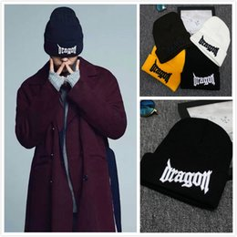 72487244bec Men women hat dargon GD bigbang streetwear cotton casual winter hats bone  justin bieber fashion wool cap Skullies Beanies
