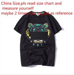2018 летний дизайнер футболки для мужчин топы Tiger Head письмо Вышивка футболка мужская одежда Марка с коротким рукавом футболки женщины топы S-2XL