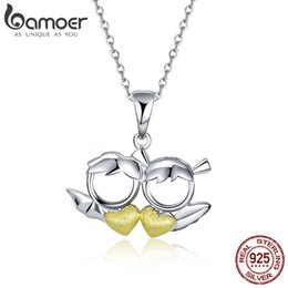 devil love angel 2019 - New Arrival 100% 925 Sterling Silver Couple Devil Loves Angel Necklaces Pendant For Women Jewelry GIFT HQ discount devil