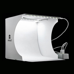Vente en gros 20 * 20cm 8 Mini Studio Pliant Diffuse Boîte à Lumière Lightbox Avec LED Lumière Noir Blanc Photographie Fond Photo Studio boîte