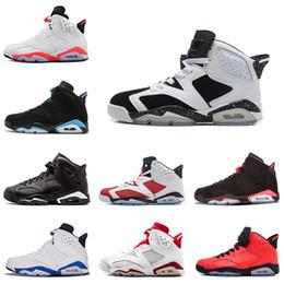 watch 42c0b e6455 Nike air jordan 6 6s Venta al por mayor 6s mens baloncesto zapatos UNC  Carmine enojado toro gato negro Infrared Marron hombres entrenadores  zapatillas 6 ...