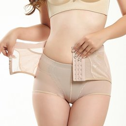 19830a267 Women Sexy Panties Abdomen Firming Body Trousers Lifting Hip Shape  Breathable Underwear High Waist Row Buckle Corsets Lady Pants