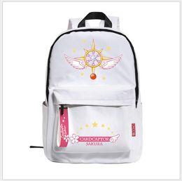 card sakura 2019 - Card Captor Sakura Canvas Backpack Sailor Moon Harajuku Students School Bag Rucksack For Teenage Girls discount card sak