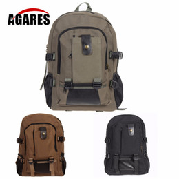 49956db204c0 New College Shoulder Backpack Bag Men s Vintage Canvas Outdoor Camping Hiking  Sports Bags High Quality army camping bag backpack outlet
