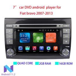 Lecteur DVD multimédia pour voiture Android 7.1.2 GPS 2 Din Autoradio Pour Fiat / Bravo 2007 2008 2009 2010 2011 2012 2013 RAM CANBUS 2GB en Solde