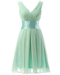 $enCountryForm.capitalKeyWord UK - 2018 Short Bridesmaid Dresses V Neck Pleats Chiffon Real Pictures Light Green Mini Prom Gowns