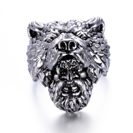 Punk Rings NZ - eejart Stainless Steel Viking Bear Man Ring Titanium Punk Biker Ring Charm Jewelry Rings