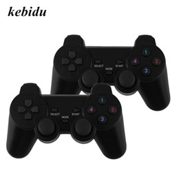 pc dual joystick NZ - kebidu 2pcs 2.4G USB Wireless Dual Vibration Gamepad Controller Joystick With 256 level 3D Analog Stick For PC Laptop