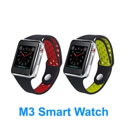 $enCountryForm.capitalKeyWord NZ - M3 Smart Wrist Watch Smartwatch with MTK6261A CPU 1.54 inch LCD OGS capacitive Touch Screen SIM Card Slot Camera for apple PK DZ09 Watch