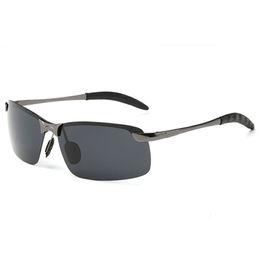 8c4ff59567 Gafas de sol para hombre gafas de sol de la vendimia moda para hombre  Sunglases polarizado de lujo gafas de sol de moda gafas de sol sin montura  de diseño ...