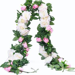 Shop white flower hanging garland uk white flower hanging garland white flower hanging garland uk 65ft artificial rose vine silk flower garland hanging plants mightylinksfo
