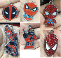 Metal spider charMs online shopping - 100 Spider man Christmas Gifts Jewelry Making Metal Charm pendants