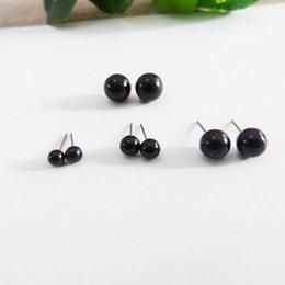 100pcs 2/3 / 4mm full black round occhi giocattolo di vetro con perno per trovare la bambola fai da te - opzione di dimensioni