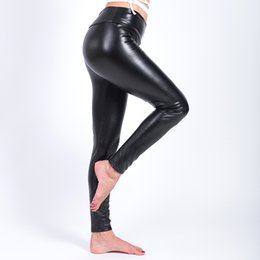 47d821b1b9863 Black faux leather leggings online shopping - 2017 Winter Warm Leggings  Thickening Black Leather Leggings High