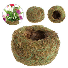 Wholesale Green Moss Ball Flower Pot Flower Bonsai Pot Holder for Garden Home Decorations Moss Ball Plant Pot