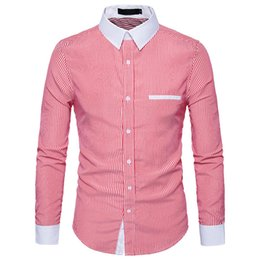 Wholesale Smart Casual Shirt Men Striped Office Clothing Tops Novelty Male Working Blouse Punk Rock Handsome Shirts Party Streetwear Shirt