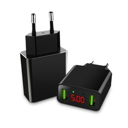 $enCountryForm.capitalKeyWord UK - Universal LED Display Dual USB Wall Charger 5V 2.2A Fast Charging Mobile Phone Charger For iPhone iPad Samsung EU US Plug