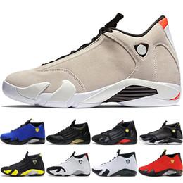 first rate e084f b63ba Nike Air Jordan Retro AJ14 nuovo arrivo Classico 14 XIV Scarpe da basket  Uomo Fusion Purple ultimo scatto Nero Fusion Varsity Rosso 14s XIV Playoff  Sneakers ...