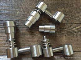 Bong Dual Function Australia - Universal Domeless Titanium Nail 4 IN 1 14mm & 18mm Dual Function GR2 Wax Oil Hookah Water Pipes Bong Ash Dab Rigs