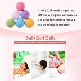 40g Random Color Natural Bubble Bath Bomb Ball Essential Oil Handmade SPA Bath Salts Ball Fizzy Skin Care Floral Bath Salts Balls on Sale