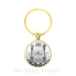 pyramid gift 2019 - Egypt Pyramid Annuit Coeptis Eye of Providence Masonic Sign Keychains Sacred Geometry Llluminati Keyring Gift For Friend