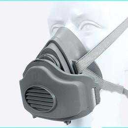 Dust Mask Filters UK - Comfortable Filter cotton Half Face Gas Mask Dust Anti Industrial Conatruction Mask Breathable Dust Pollen Haze Poison 2018