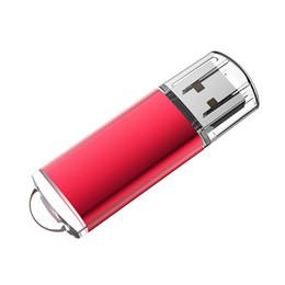 Usb Pen Gb Australia - Red 64GB USB 2.0 Flash Drives High Speed Rectangle Memory Sticks 64gb Thumb Pen Storage for PC Laptop Macbook Tablet Flash Pen Drive