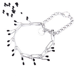 Dog walking chain online shopping - Fashion Necklace with Solid Metal Buckle Silvery Protective Sleeve Adjustable Chain Trainning Holding Walking Dog Collars rx4 Y