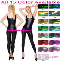 $enCountryForm.capitalKeyWord NZ - Sexy Bodysuit Costumes New 15 Color Shiny Lycra Metallic Suit Catsuit Costumes Unisex Sexy Body Suit Halloween Party Cosplay Costumes DH073