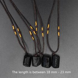 $enCountryForm.capitalKeyWord NZ - 10 PCS natural black tourmaline pendant necklace plating crystal necklace chakra crystal healing stone pendant 18-23mm